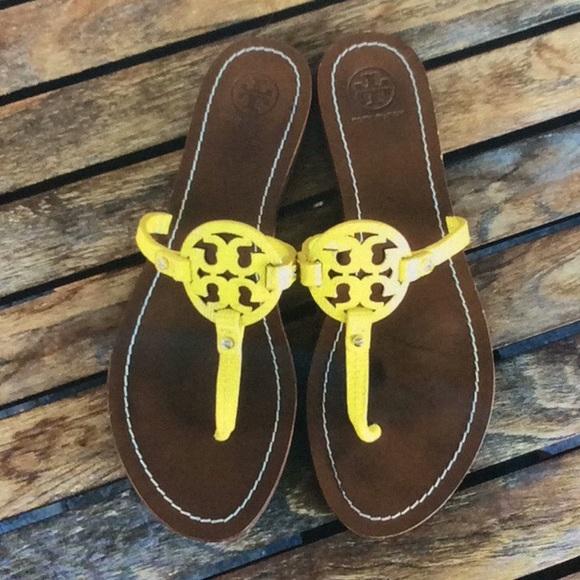 c4a34b4e084d Tory Burch leather Mini Miller sandals 8.5. M 5babfdc17386bc01d1b49ba9